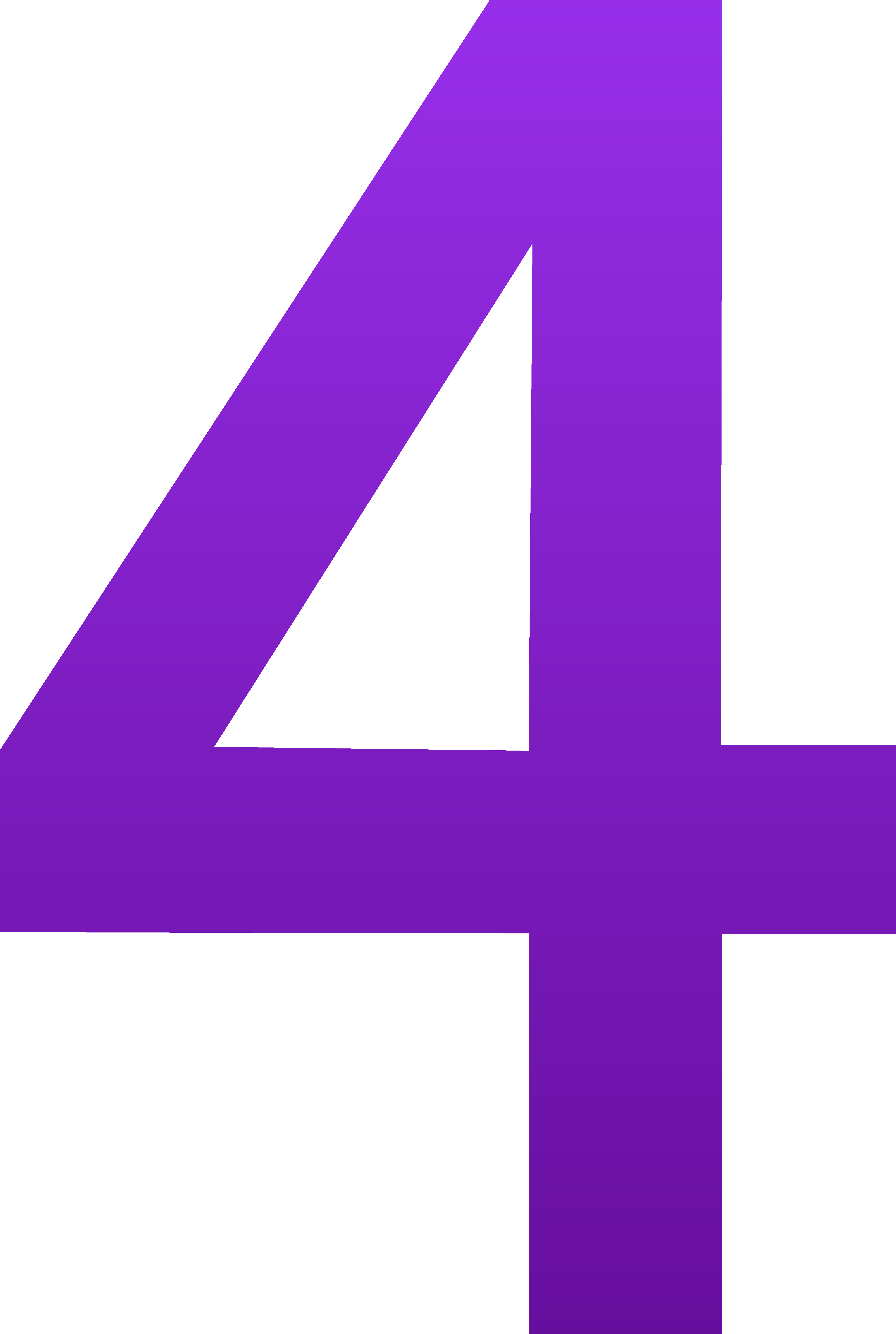 4663x6937 Purple Clipart Number 4