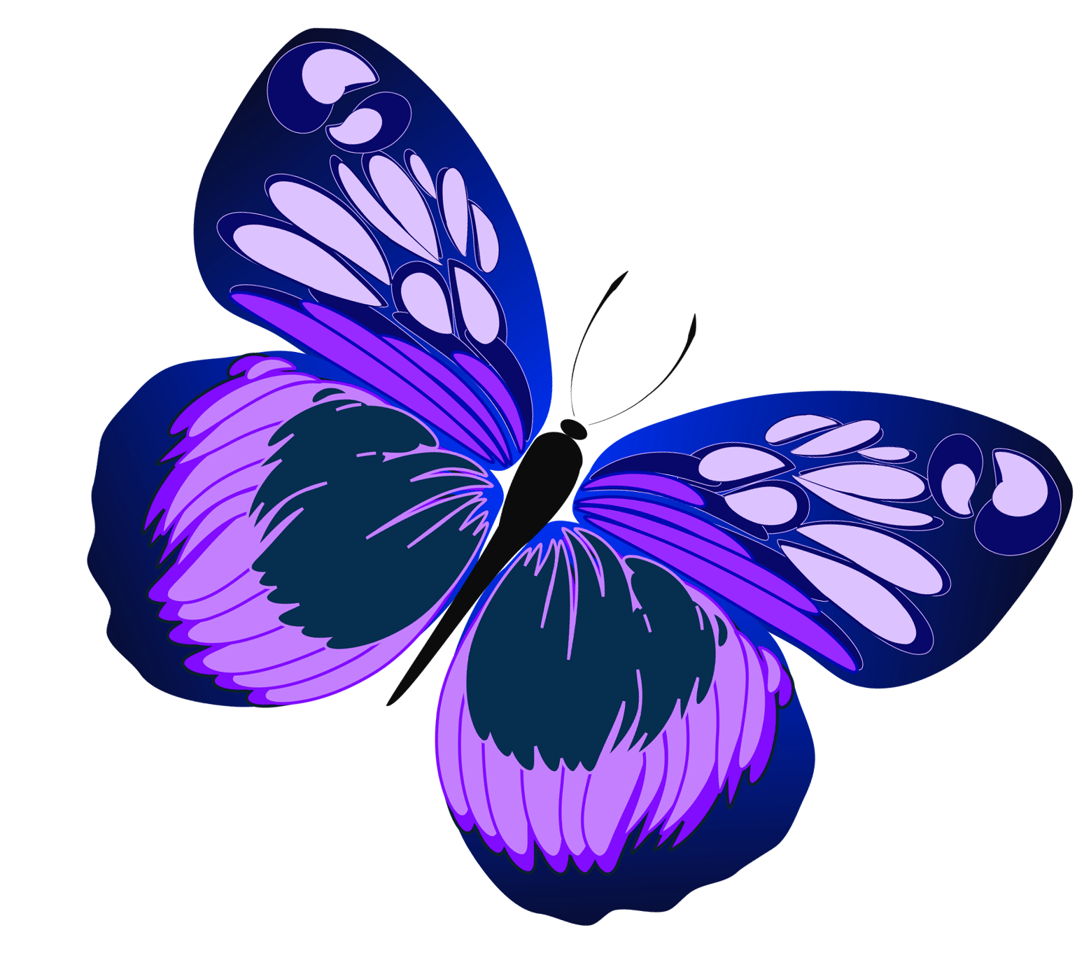 1559x1372 Blue And Purple Butterfly Clipart