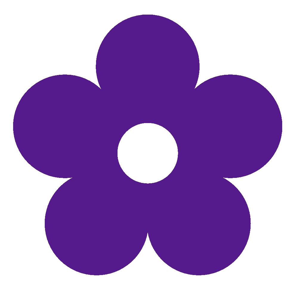 999x990 Clipart Flower Purple