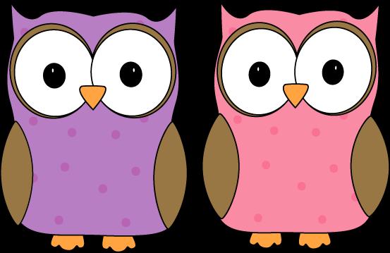 Purple Owl Clipart