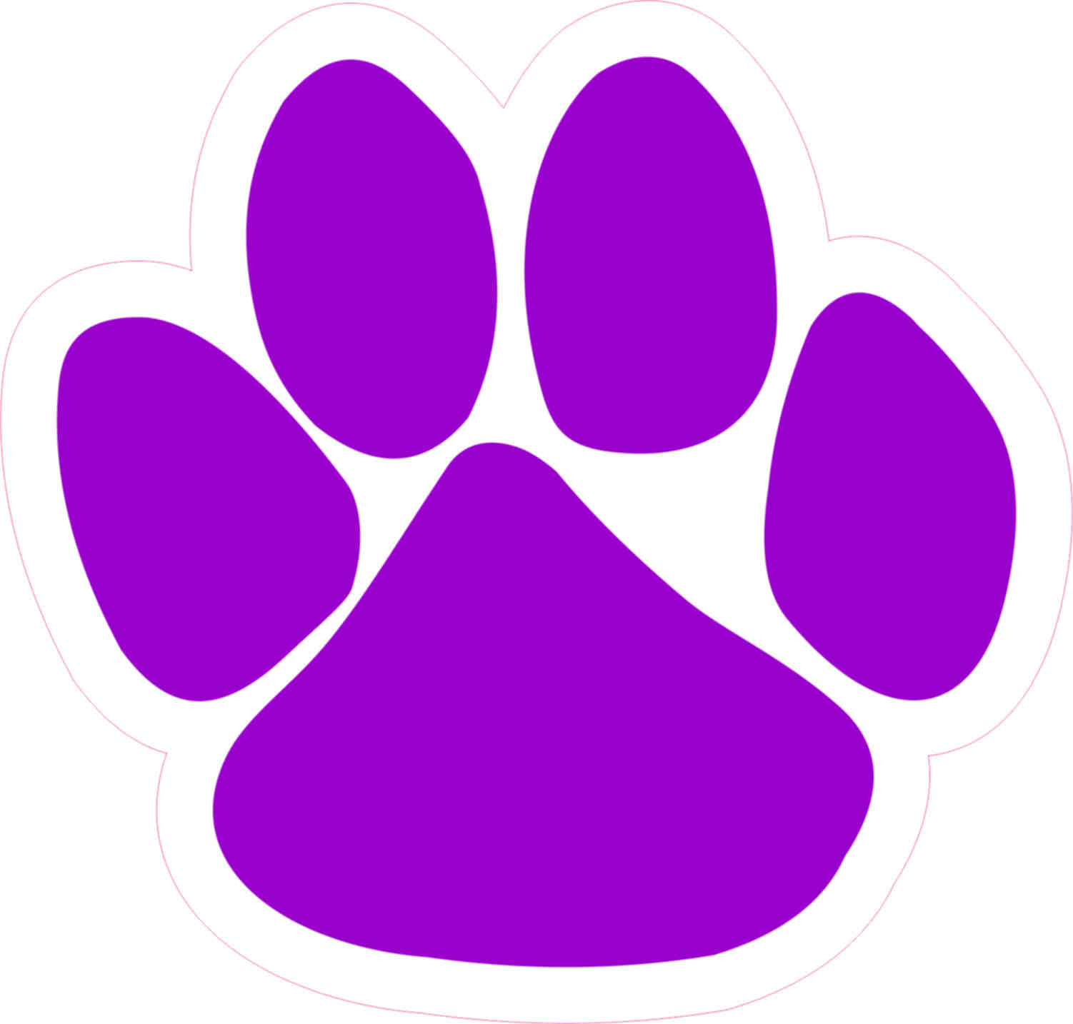 Purple Paw Prints