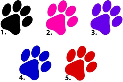 500x334 Dog Single Paw Print