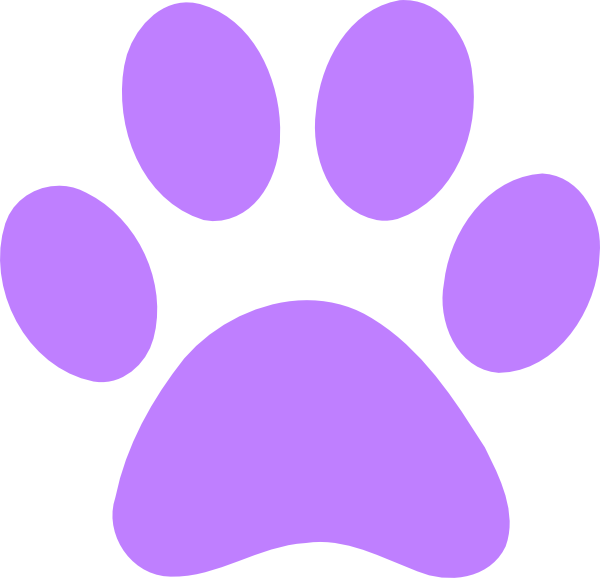 600x578 Light Purple Paw Print Clip Art