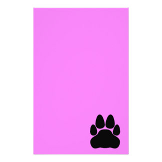 324x324 Paw Print Stationery Zazzle