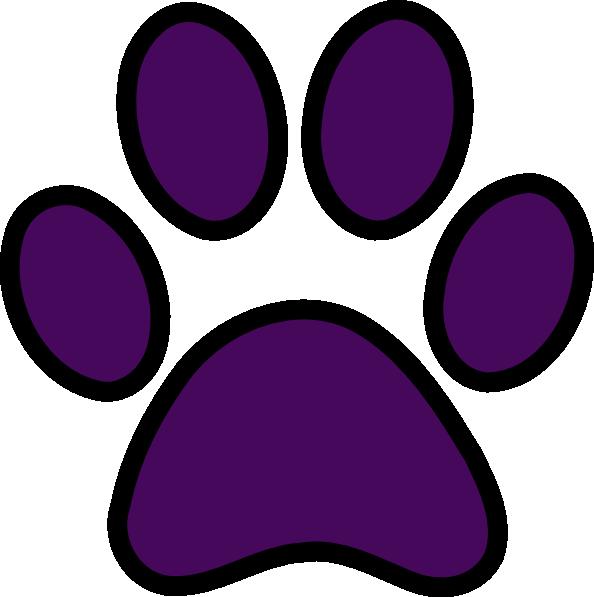 594x597 Paw Print Purple Paw Clipart Kid