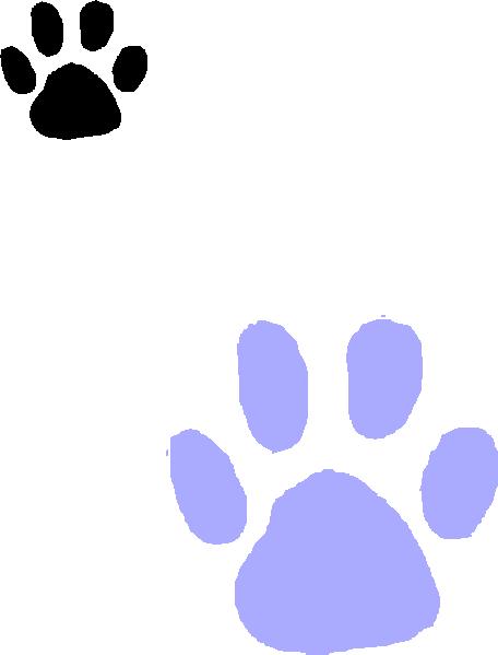 456x599 Purple Paw Print Clip Art
