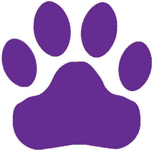 488x480 Purple Paw Print Clipart