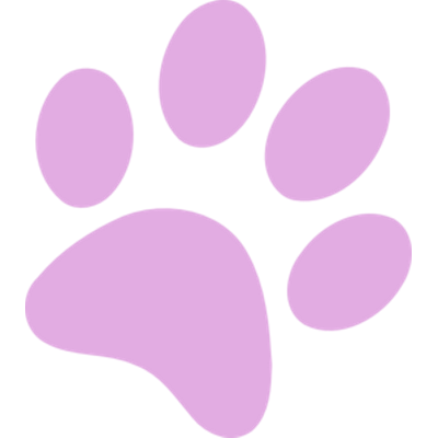 400x400 Purple Paw Print Transparent Png