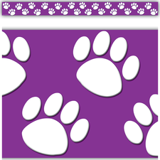 225x225 Purple Paw Prints Accents