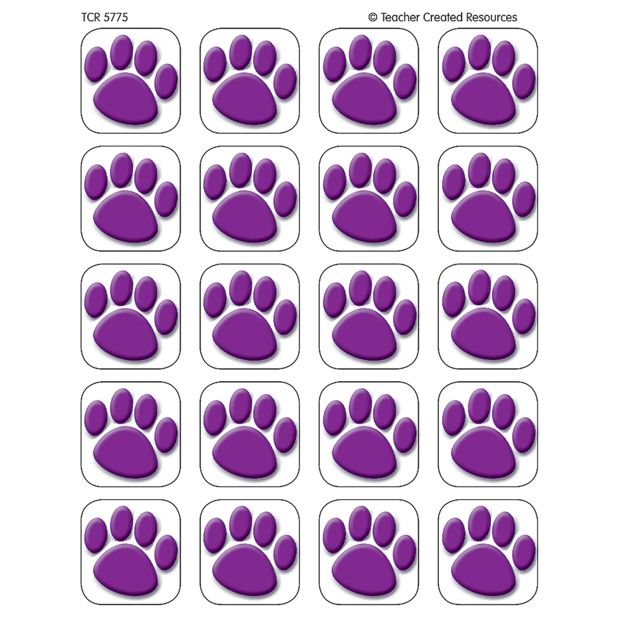 900x900 Purple Paw Prints Stickers