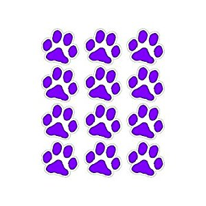 300x300 Small Purple Paw Prints Sheet Of 12