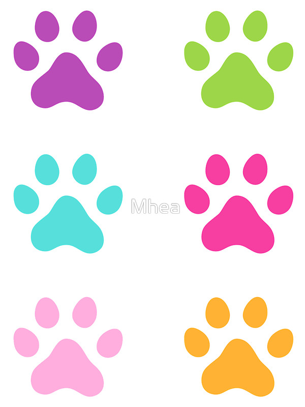 600x800 Colorful Paw Print Stickers