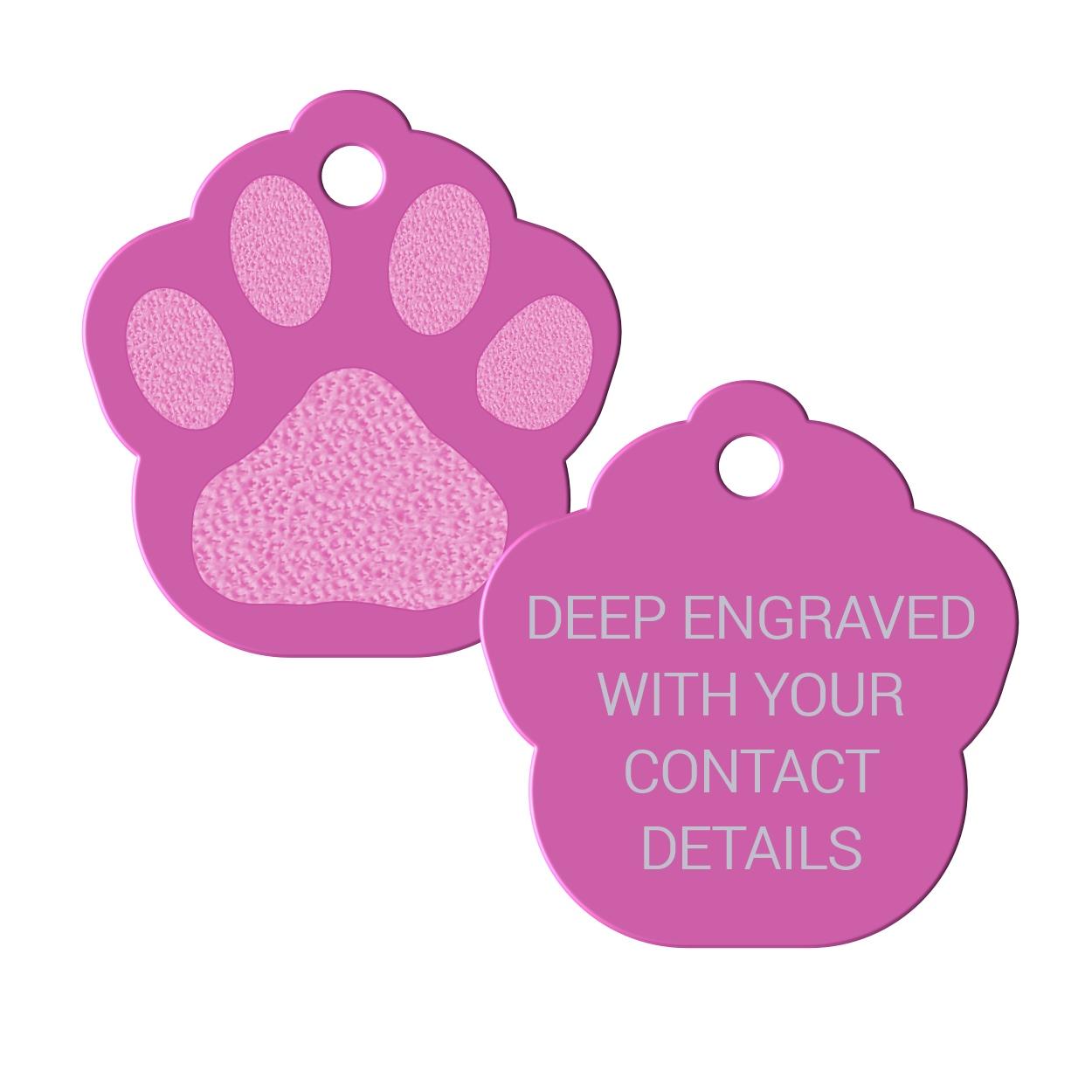 1250x1250 Pawprint Pet Tags, Paw Print Pet Tags, Custom Id Tag For Pets