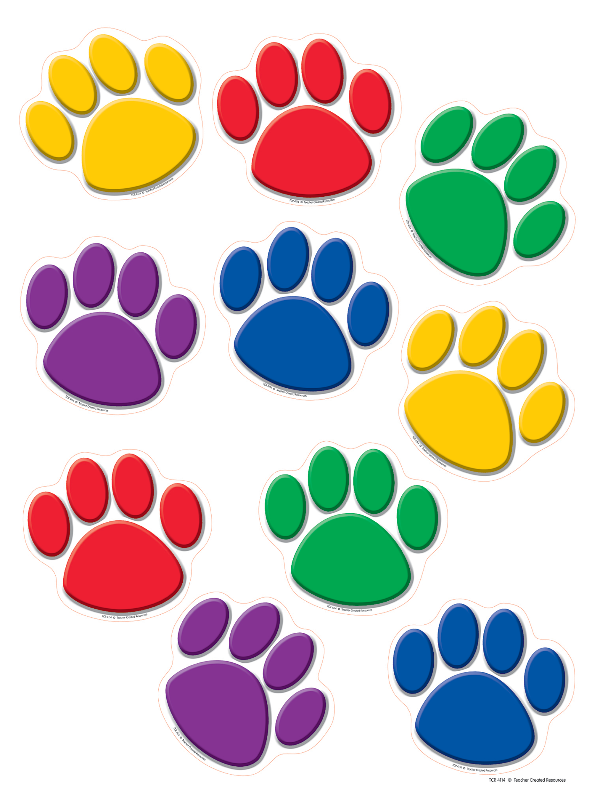 2000x2667 Colorful Paw Prints Accents
