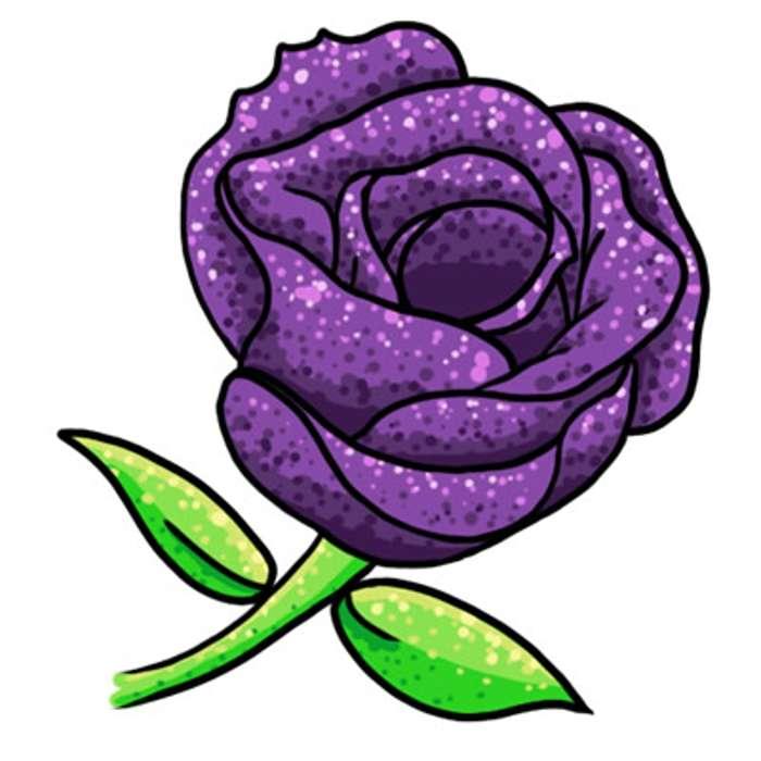 700x700 Purple Flower Clipart Purple Rose