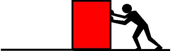 600x181 Man Pushing Red Box Clip Art