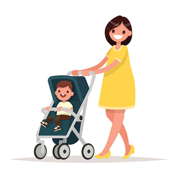 612x612 Mother And Baby Clipart Pram
