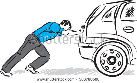 450x272 People Pushing A Car Clipart