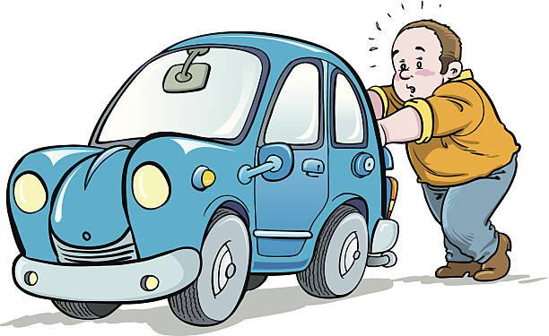 612x375 Pushing A Car Clipart