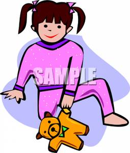 255x300 Girl In Pajamas Clipart