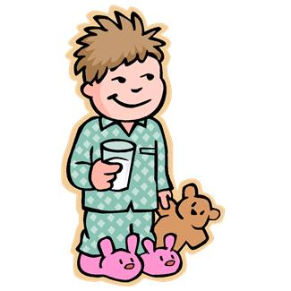 325x325 Putting On Pajamas Clipart