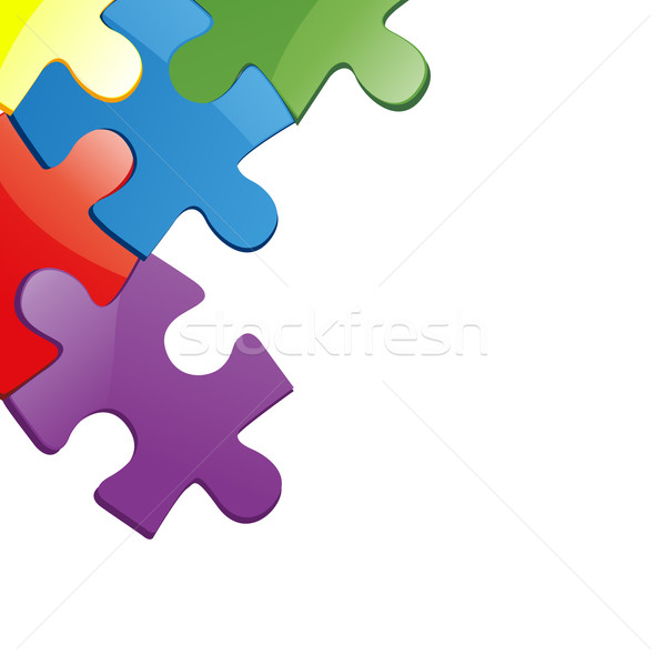 600x599 Vector Illustration Of Puzzle Pieces Vector Illustration Edmond