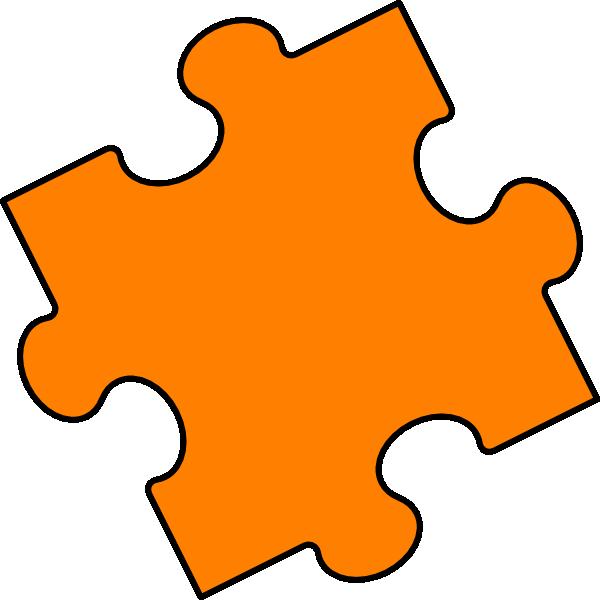 600x600 Orange Puzzle Piece Clip Art