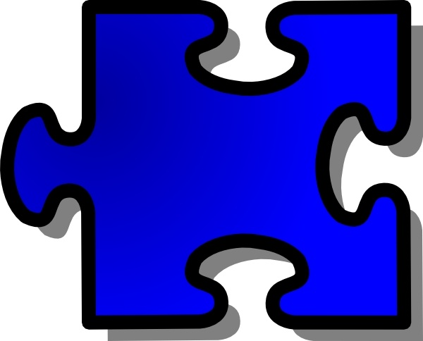 600x484 Blue Jigsaw Puzzle Piece Clip Art Free Vector In Open Office