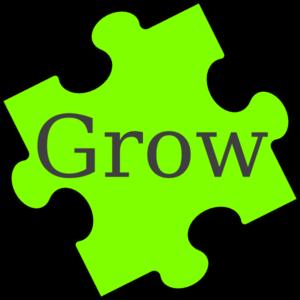 300x300 Puzzle Piece Grow Clip Art