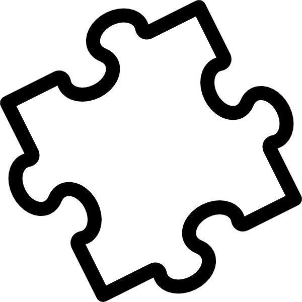 600x600 Puzzle Clipart Black And White