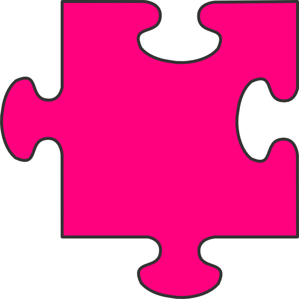 600x601 Puzzle Clipart Pink