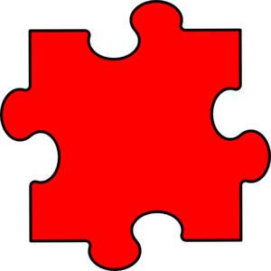300x300 Red Puzzle Piece Clip Art