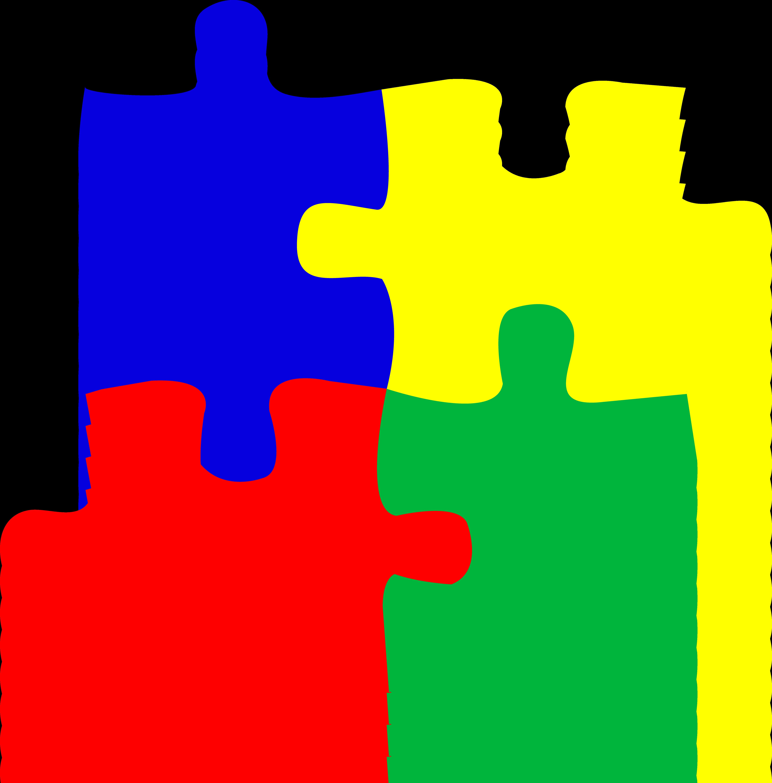 5617x5703 Four Puzzle Pieces Logo Design