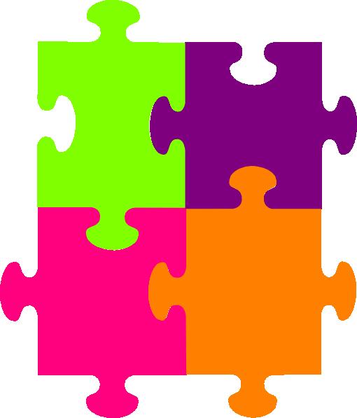 510x597 Jigsaw Puzzle 4 Pieces Png, Svg Clip Art For Web