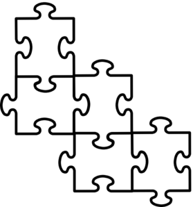 279x298 Puzzle Pieces Connected Clip Art