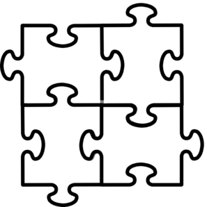 297x298 Puzzle Pieces Connected X4 Clip Art