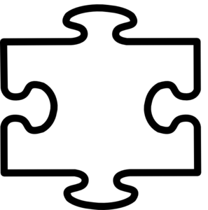 297x300 White All Puzzle Clip Art