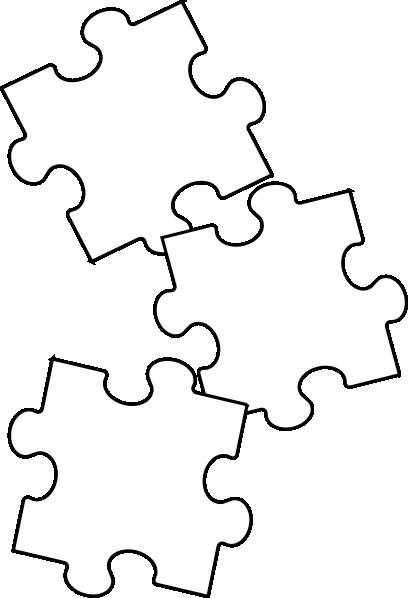 408x598 Black White Puzzle Piece Clip Art