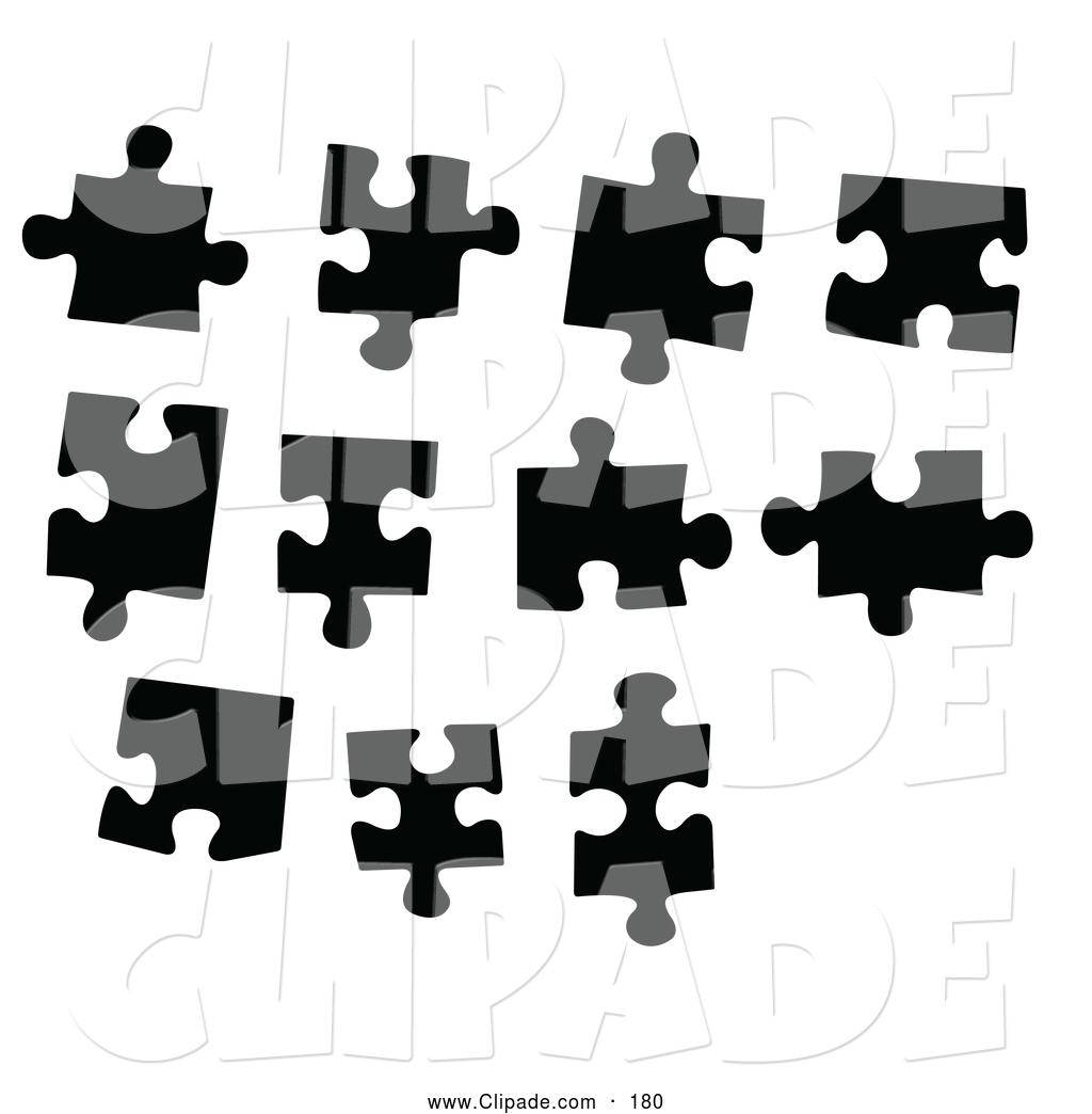 1024x1044 Clip Art Of A Digital Collage Of Black And White Puzzle Pieces