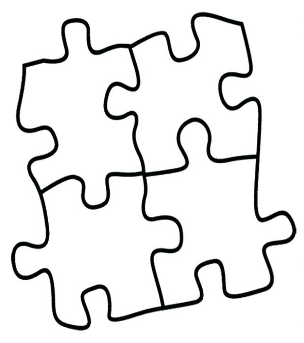 618x697 Coloring Pages Printable Puzzle Piece Free Blank Of Page We Are
