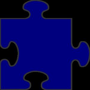 300x300 Navy Border Puzzle Piece Top Clip Art Puzzle