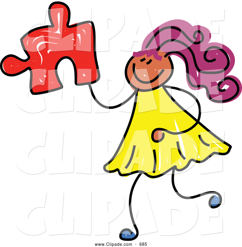 1024x1044 Clip Art Of A Girl Holding Puzzle Piece On White By Prawny