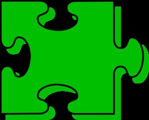 298x240 Green Puzzle Piece Clip Art
