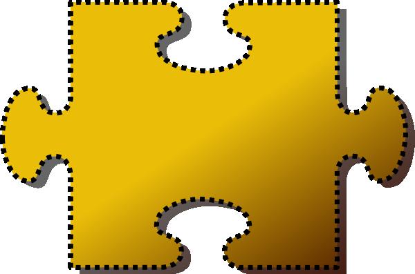 600x397 Jigsaw Yellow Puzzle Piece Cutout Clip Art
