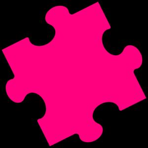 300x300 Pink Puzzle Piece Clip Art