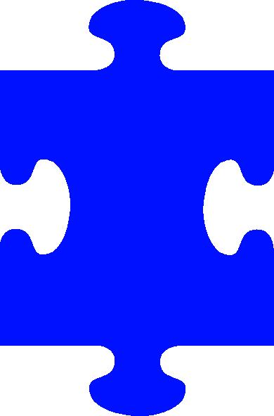 390x592 Puzzle Piece Blue Clip Art