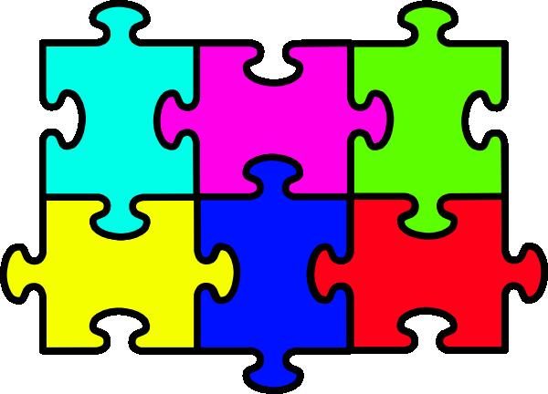 600x432 Puzzle Six Pieces Clip Art