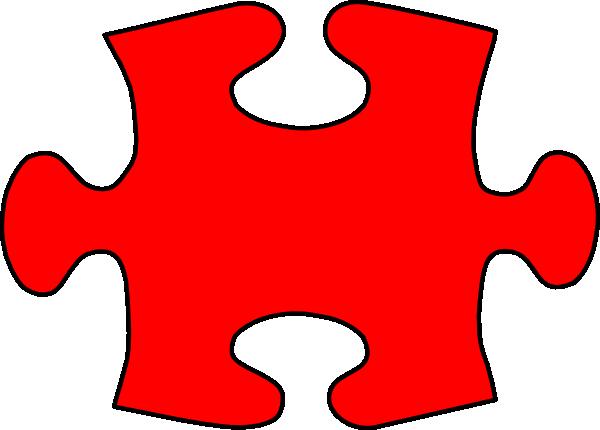 600x430 Red Puzzle Piece Clip Art