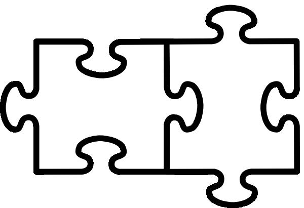 600x411 Two Puzzle Pieces Clip Art