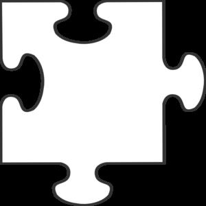 300x300 White Puzzle Piece Clip Art